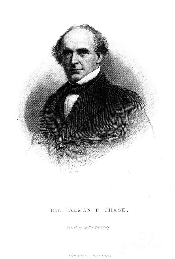 1862 Photograph - Salmon Portland Chase by Granger