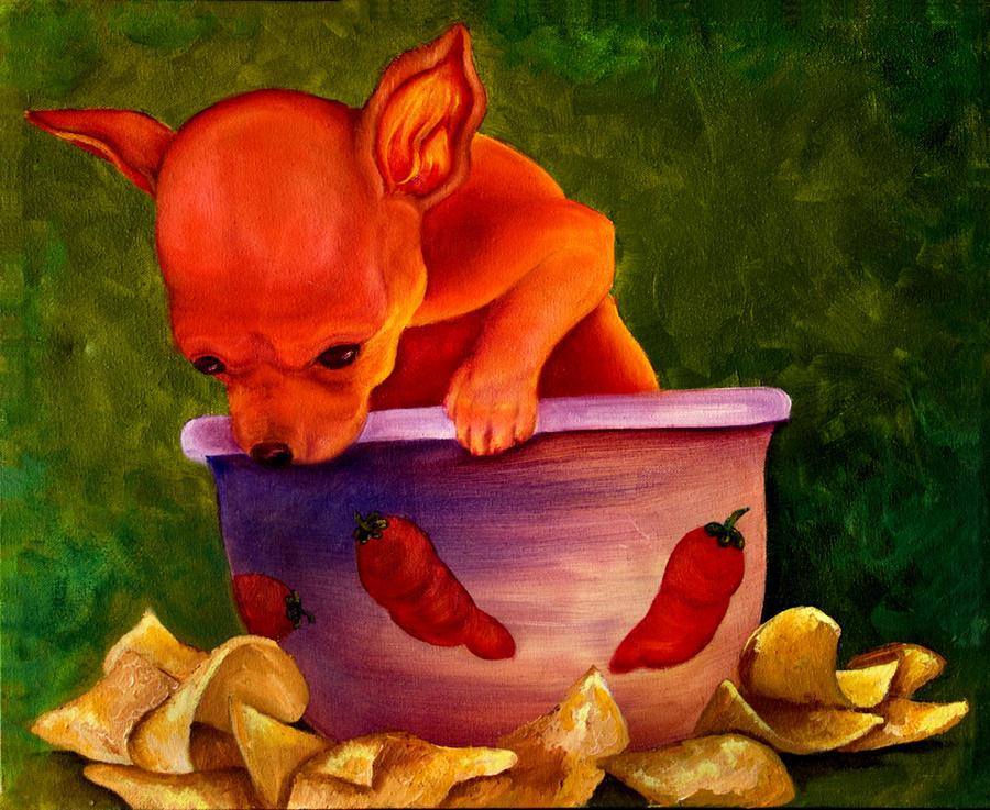 Dog Painting - Salsa Chihuahua by Gail Mcfarland