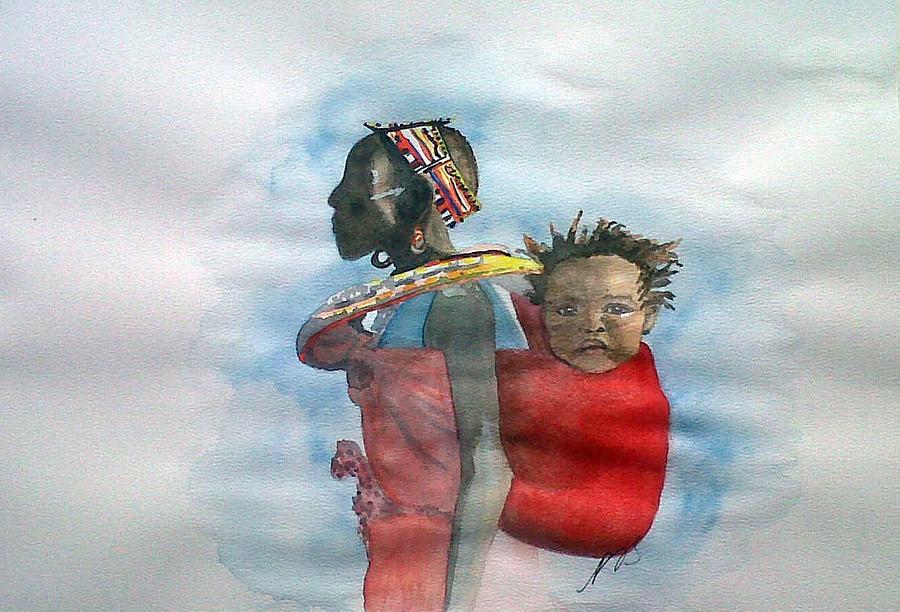 Samburu Painting - Samburu Tribe IIi. by Paula Steffensen
