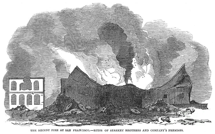 1851 Photograph - San Francisco: Fire, 1851 by Granger