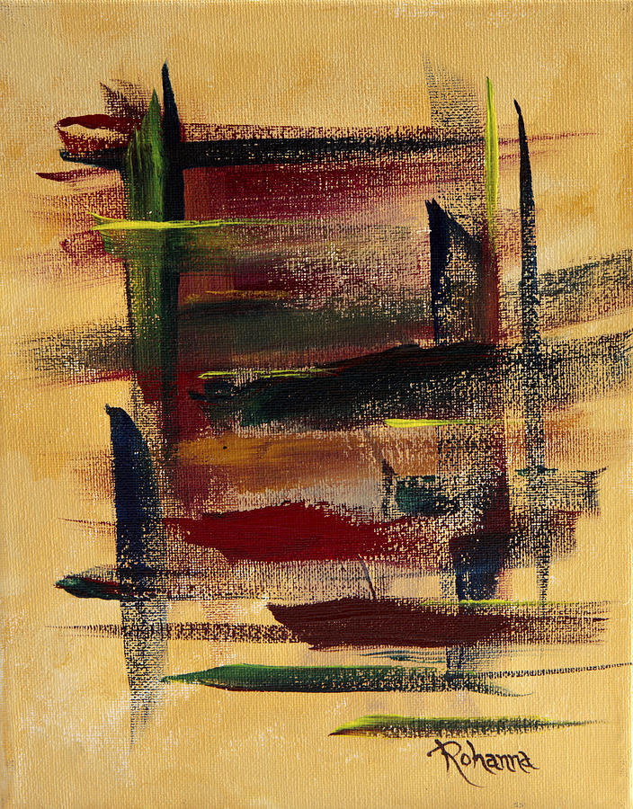 Abstract Painting - San Pan by Judy M Watts-Rohanna
