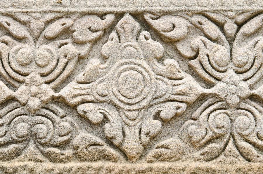 Nakhon Ratchasima Province Sculpture - Sandstone Carving  by Kanoksak Detboon
