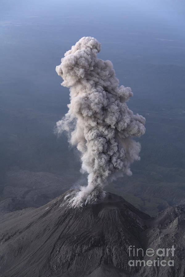 No People Photograph - Santiaguito Ash Eruption, Guatemala by Martin Rietze