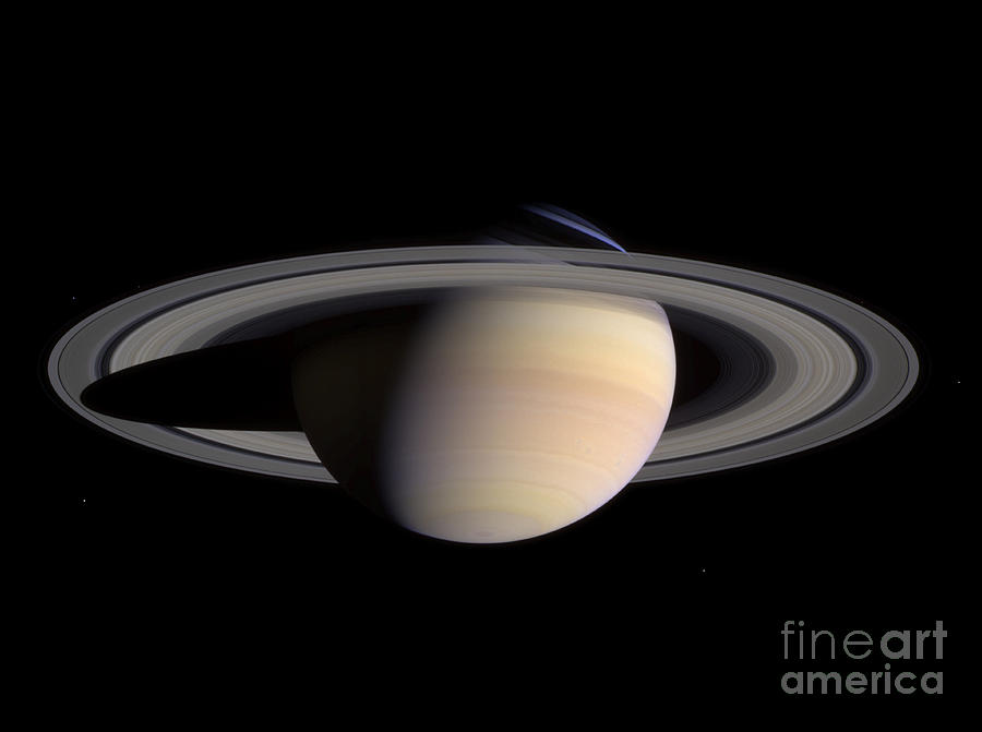 Color Image Photograph - Saturn by Stocktrek Images
