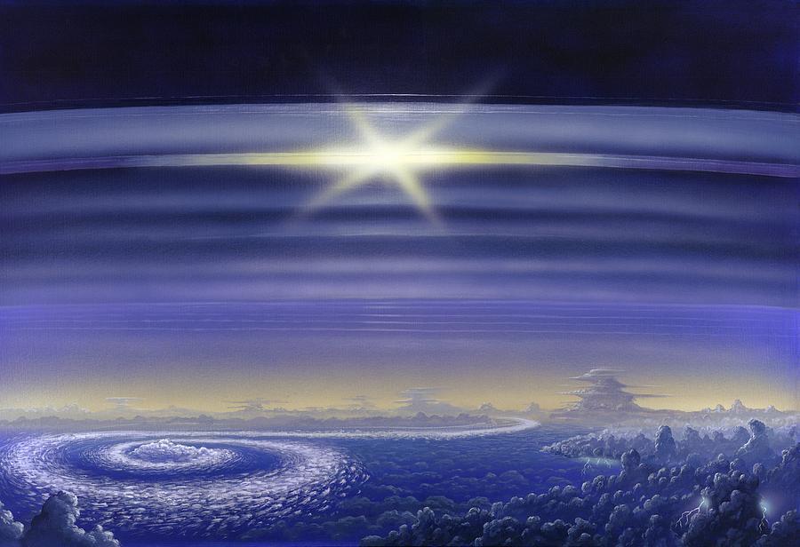 Sun Photograph - Saturns Rings, Artwork by Richard Bizley