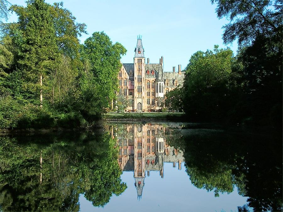 Europe Belgium Photograph - Schloss Loppem Loppem Belgium by Joseph Hendrix