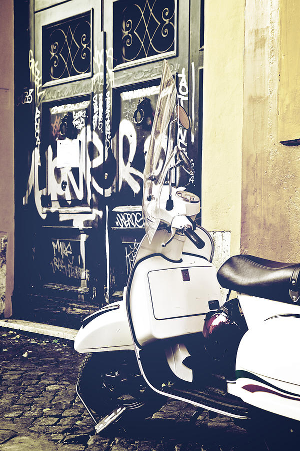 Rome Photograph - Scooter by Joana Kruse
