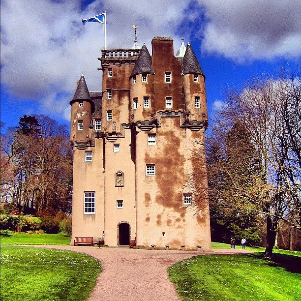 Old Photograph - Scottish Castle by Luisa Azzolini