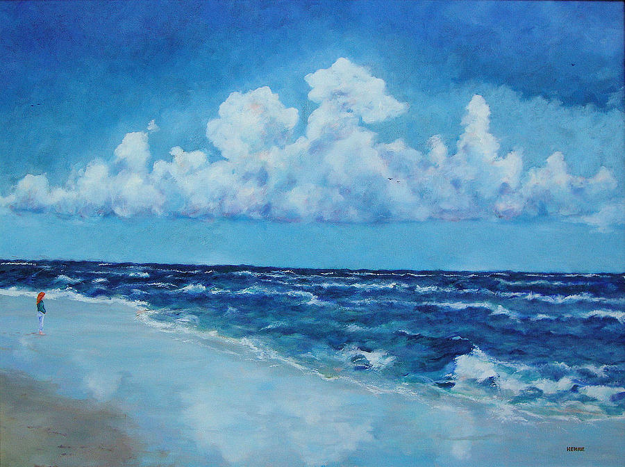Clouds Painting - Sea And Sky by Robert Henne