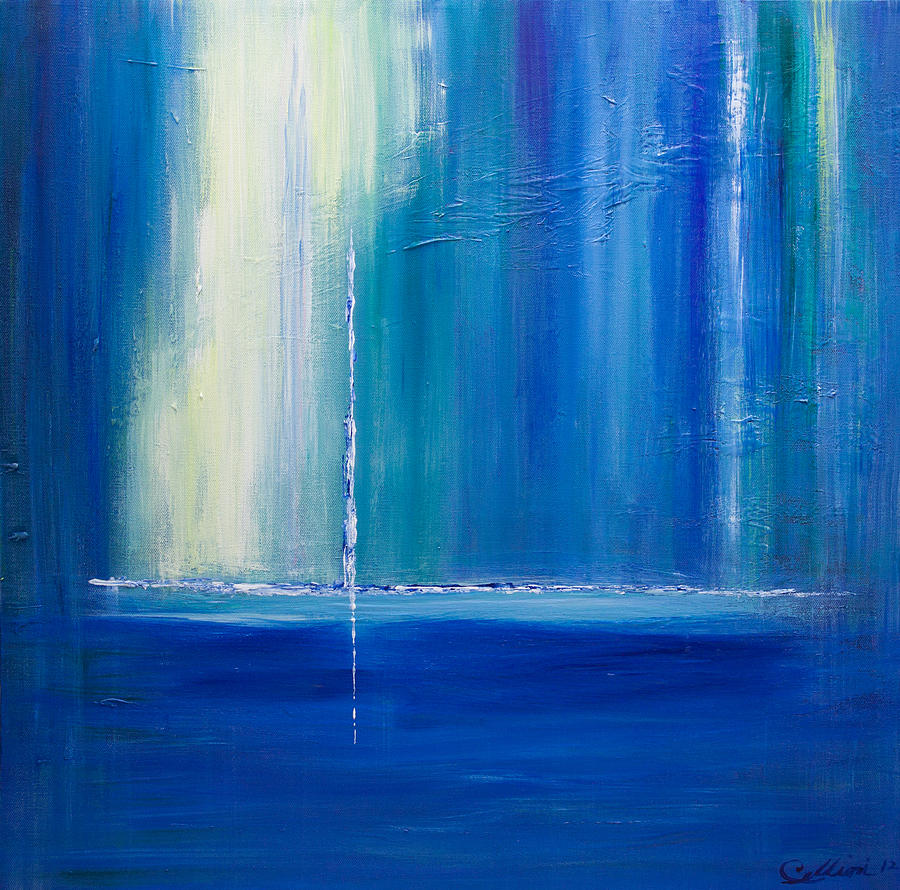 Abstract Sailboat Painting - Searching For The Light 2 by Dolores  Deal