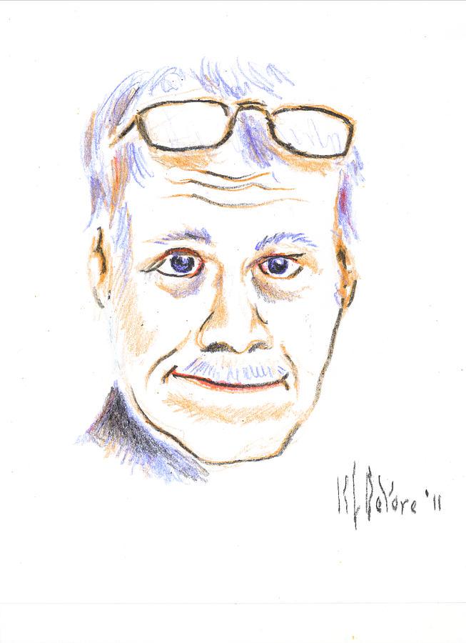 Crayon Drawing - Self-portrait by Kip DeVore