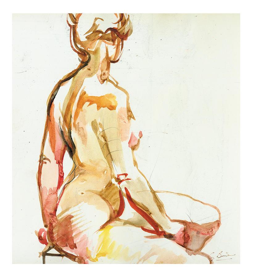 Watercolour Painting - Seraphina by Gerard Bimson