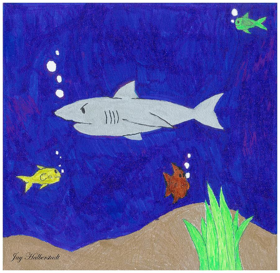 Shark Mixed Media - Shark by Artists With Autism Inc