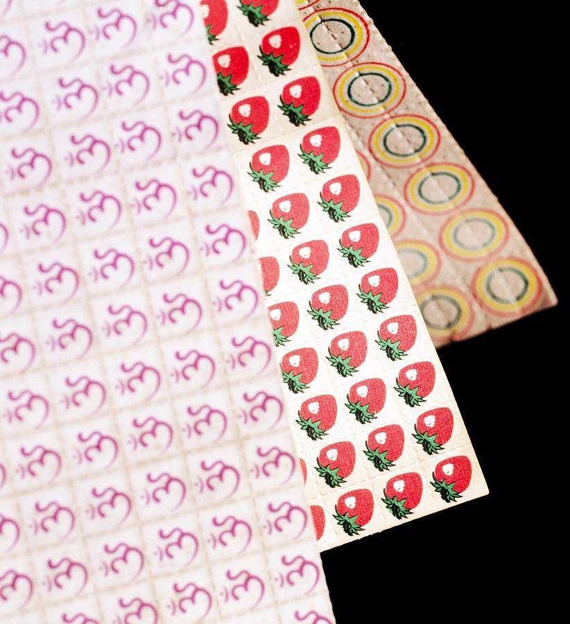 Sheets Of Lsd Acid Tabs Photograph By Tek Image