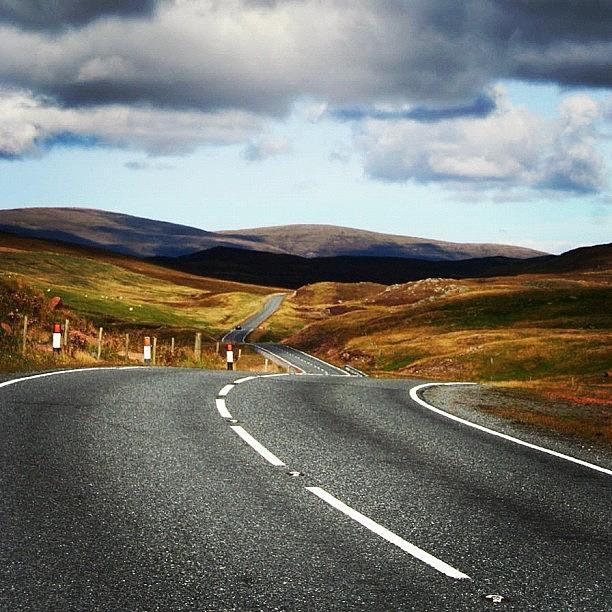 Shetland Photograph - #shetlands Road by Luisa Azzolini