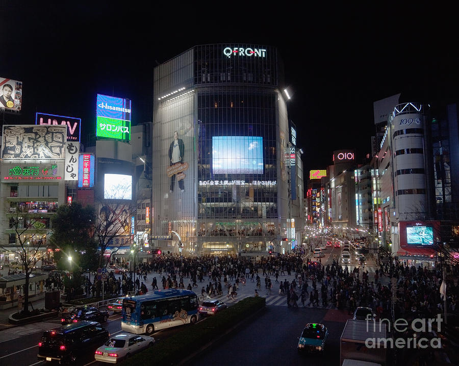 Advertisement Photograph - Shibuya Crossing by Ei Katsumata