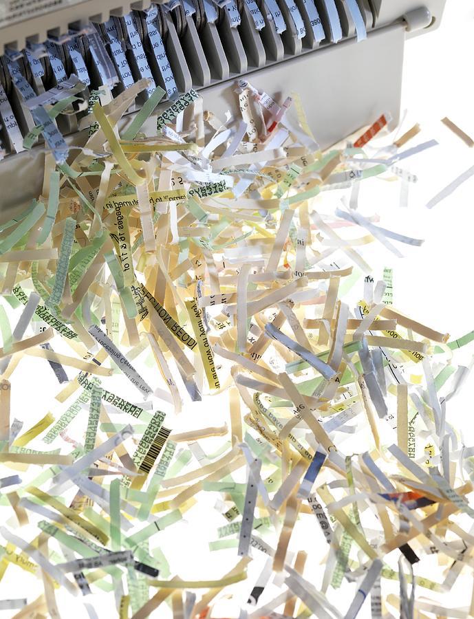 Machine Photograph - Shredded Paper by Tek Image