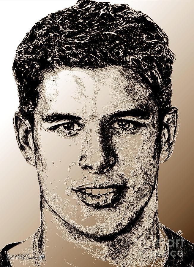 Sidney Crosby Digital Art - Sidney Crosby In 2007 by J McCombie