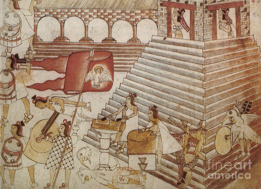 Artwork Photograph - Siege Of Tenochtitlan 1521 by Photo Researchers