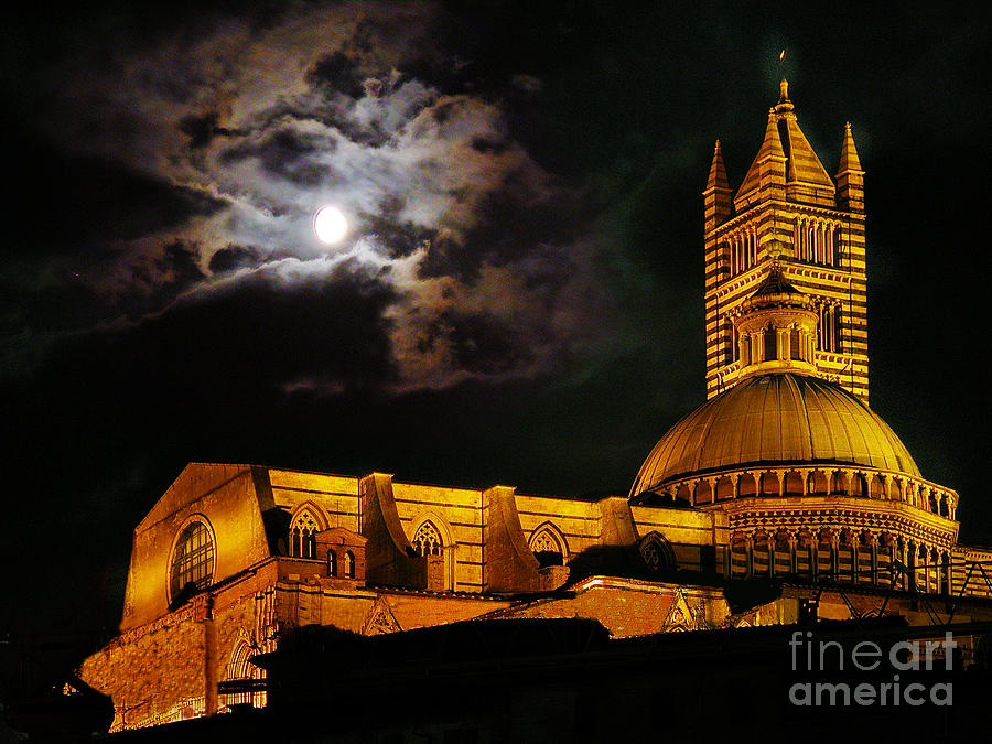 Cathedral Photograph - Siena Cathedral by Jim Wright