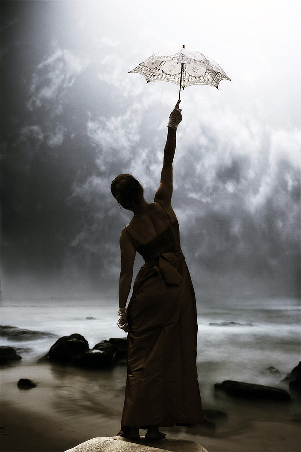 Female Photograph - Silhouette by Joana Kruse