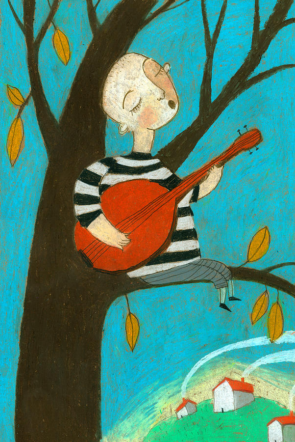 Adult Digital Art - Singing Song by Jenny Meilihove