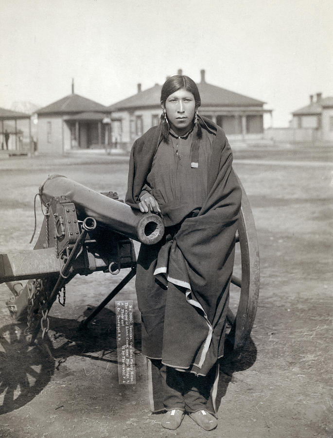 1891 Photograph - Sioux Warrior, 1891 by Granger