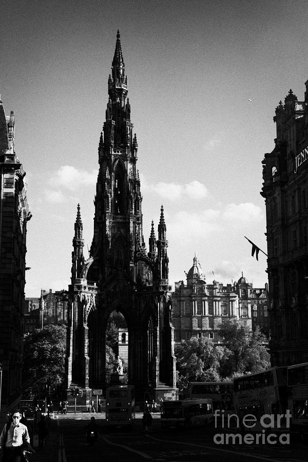 Sir Photograph - Sir Walter Scott Monument Princes Street Edinburgh Scotland Uk United Kingdom by Joe Fox