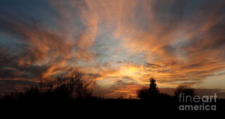 Prairie Sunset Photograph - Sky On Fire by Art Whitton