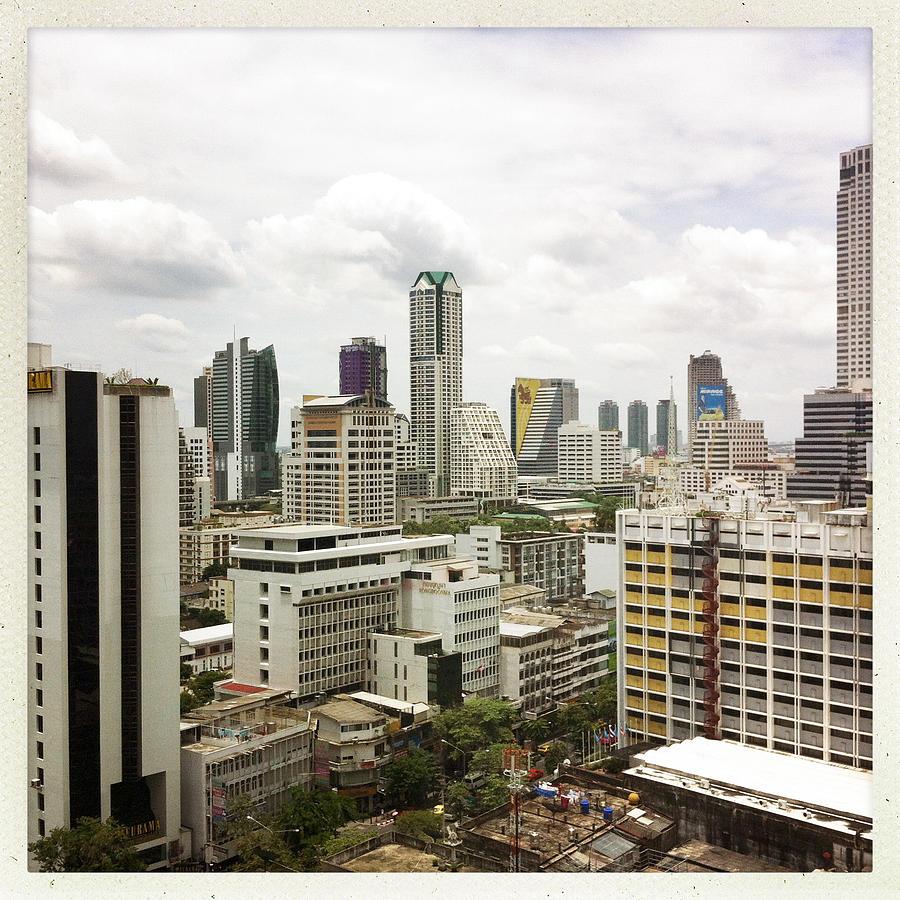 Square Photograph - Skyline Of Bangkok by Ixefra