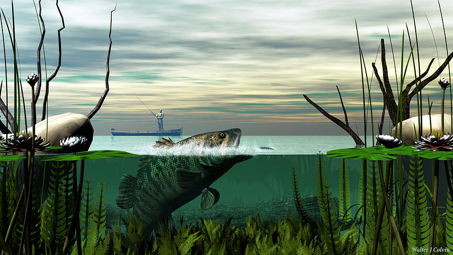 Fish Digital Art - Smallmouth Bass by Walter Colvin