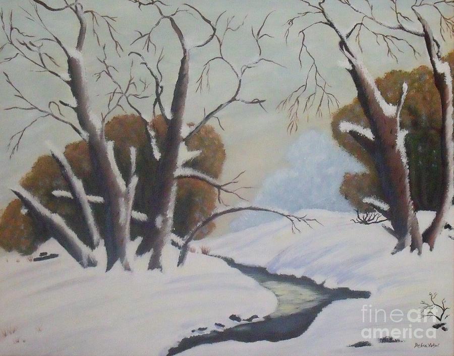 Landscape Painting - Snow by Debra Piro
