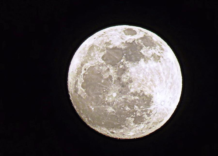 Snow Moon Photograph - Snow Moon by Janice Drew