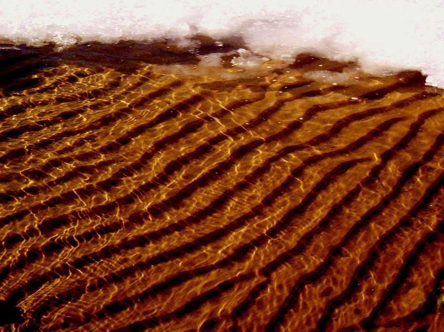 Water Photograph - Snowy Ripples by Virginia Lei Jimenez