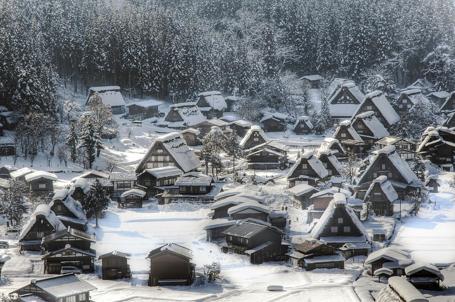 Snow Photograph - Snowy Village by Kean Poh Chua