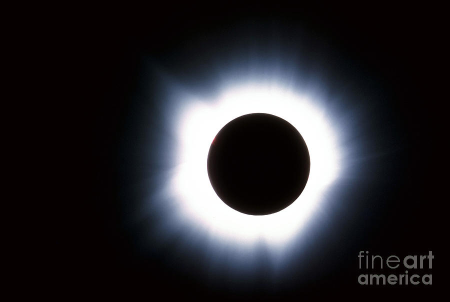 Color Image Photograph - Solar Eclipse by Stocktrek Images
