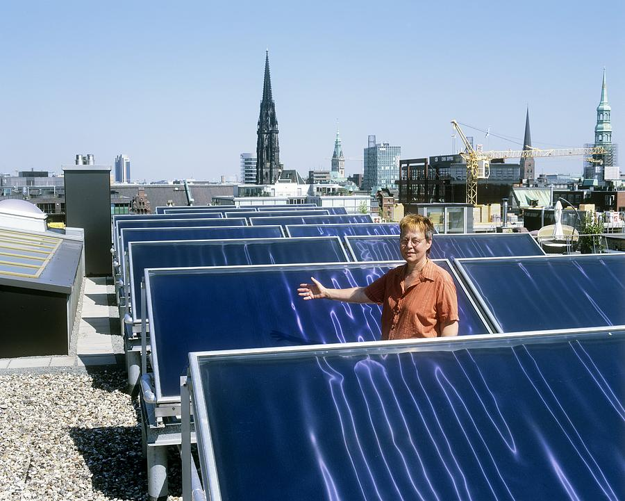 Building Photograph - Solar Heat Collectors, Germany by Martin Bond