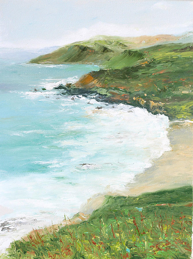 Ocean Painting - Somewhere On Big Sur by Max Mckenzie