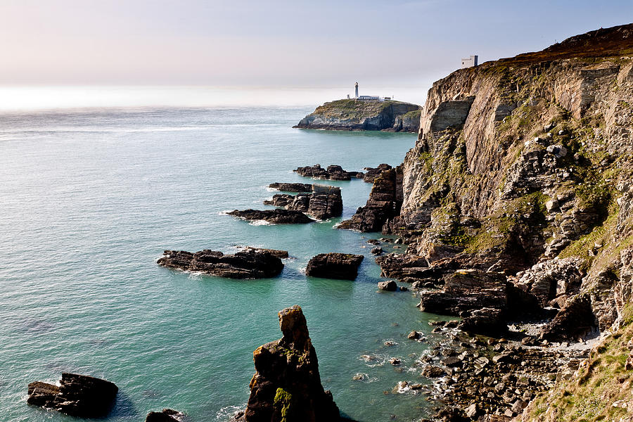 Acrylic Photograph - South Stack by Gary Finnigan