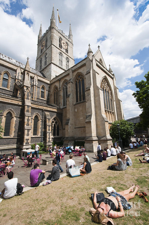 British Photograph - Southwark Cathedral by Andrew  Michael