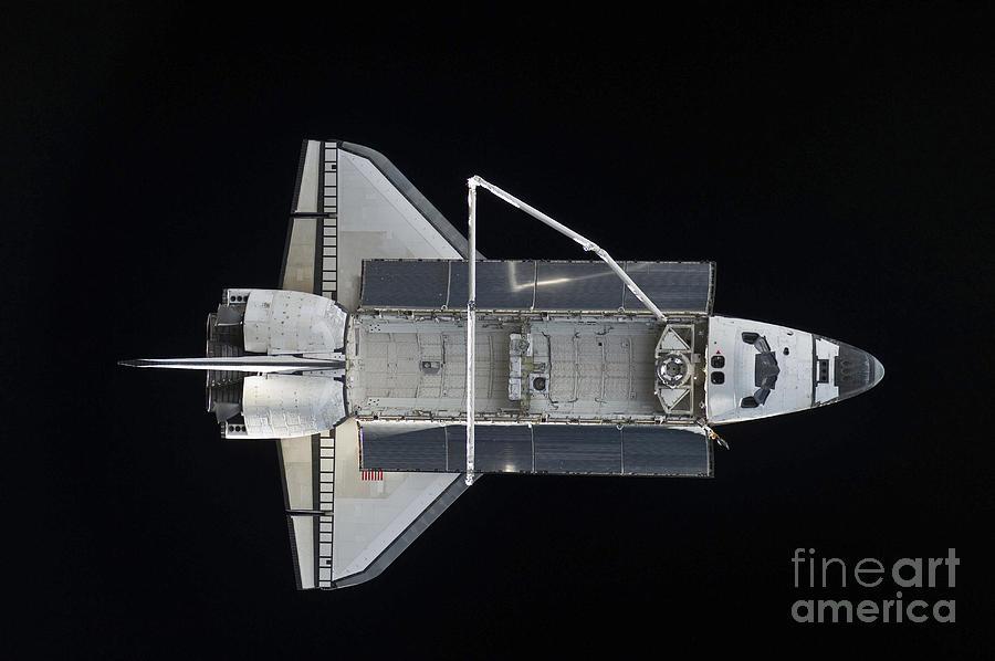 Horizontal Photograph - Space Shuttle Atlantis Backdropped by Stocktrek Images