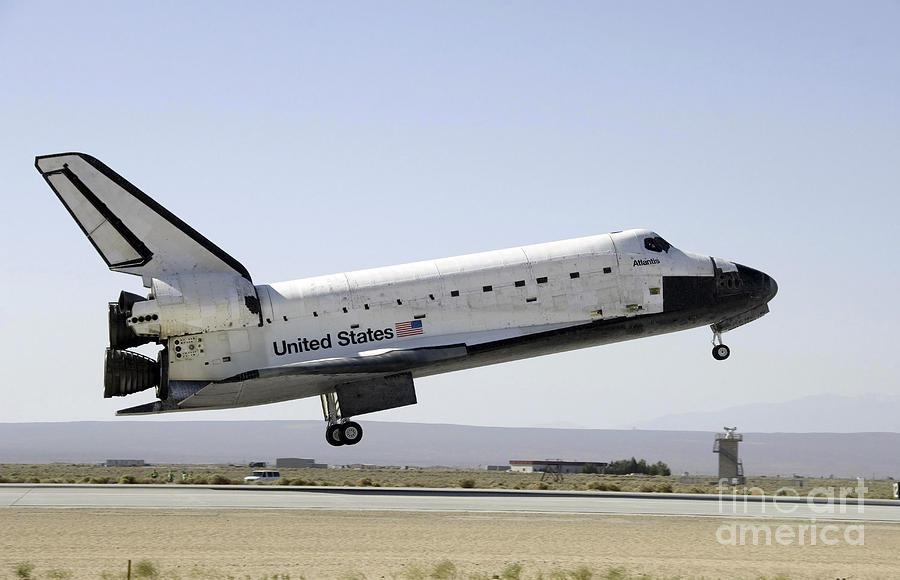 Edwards Air Force Base Photograph - Space Shuttle Atlantis Prepares by Stocktrek Images