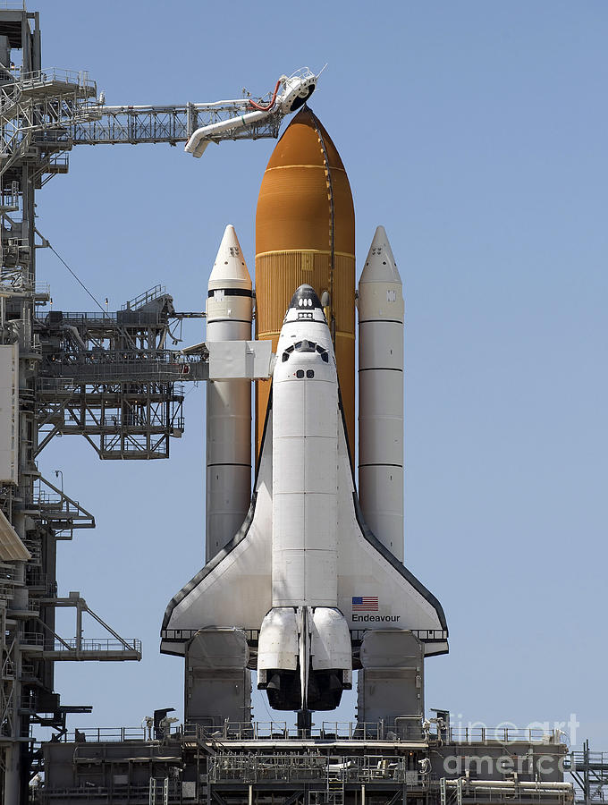 Florida Photograph - Space Shuttle Endeavour Sits Ready by Stocktrek Images