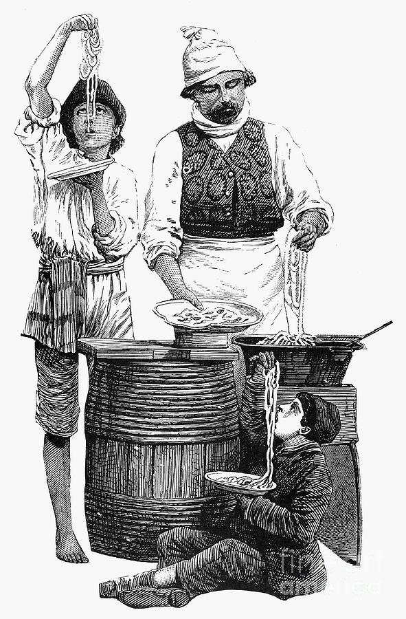 19th Century Photograph - Spaghetti Vendor by Granger