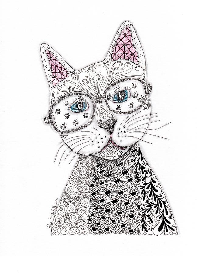 Zentangle Drawing - Spec-catular by Paula Dickerhoff