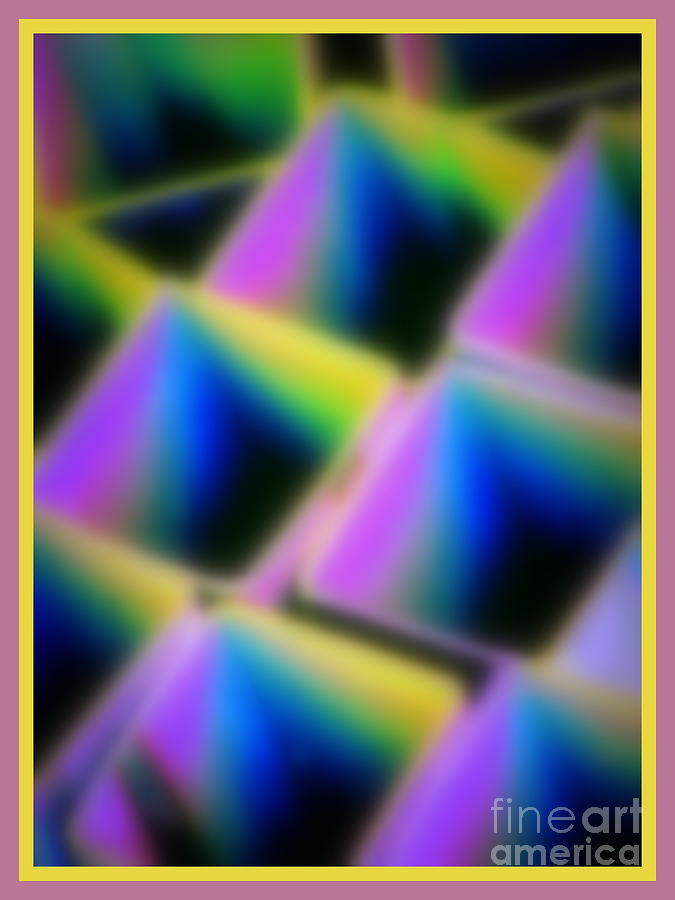 Abstract Digital Art - Squares by Irina Hays