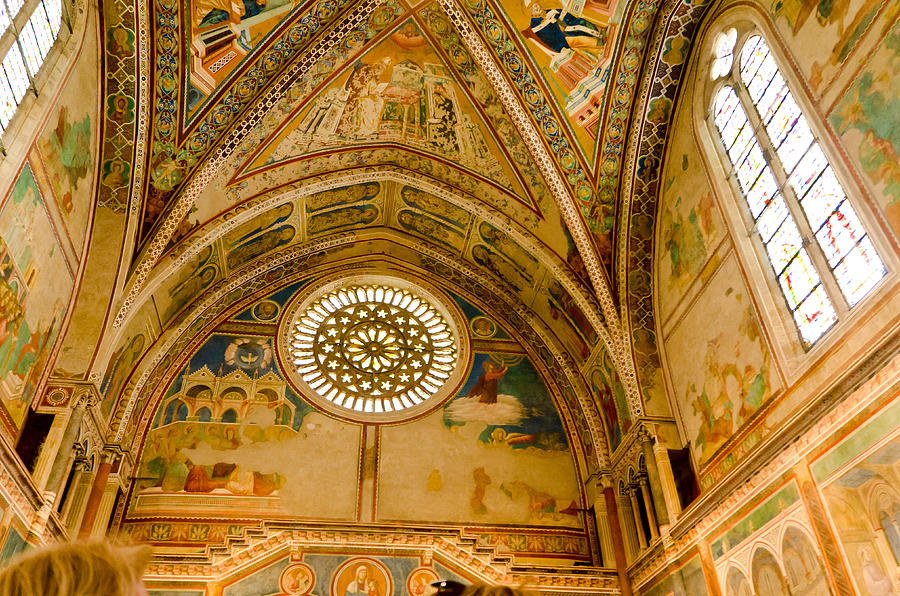 Italy Photograph - St Francis Basilica   Assisi Italy by Jon Berghoff