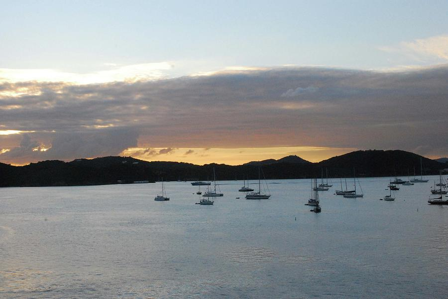 Sunset Photograph - St. Thomas Sunset by Gary Wonning
