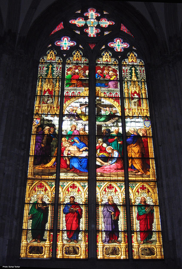 Germany Photograph - Stained Glass Window by Suhas Tavkar