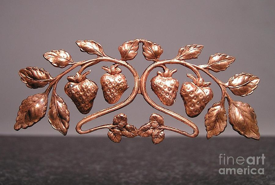 Strawberries Jewelry - Stampings 29 by Dwight Goss